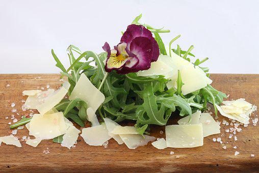 Rocket, Salad, Parmesan, Food, Meal, Leaf, Healthy