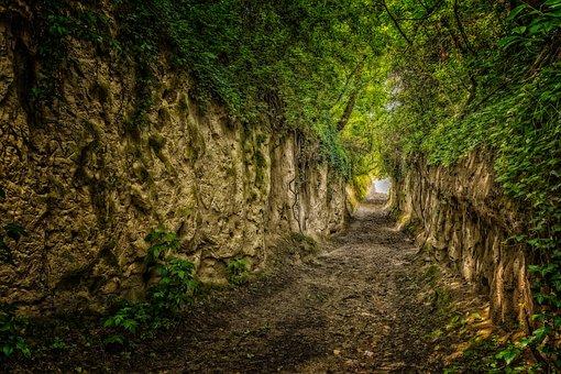 Away, Hanson, Kaiserstuhl, Lösshohlweg, Alley, Hiking