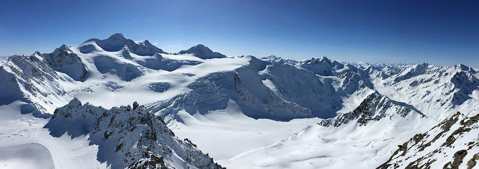 Mountains, Landscape, Nature, Snow, Glacier, Foresight
