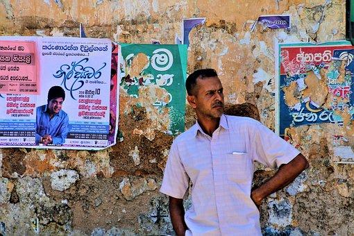 Sri Lanka, Look, A Person, People, Male, Adult, Street