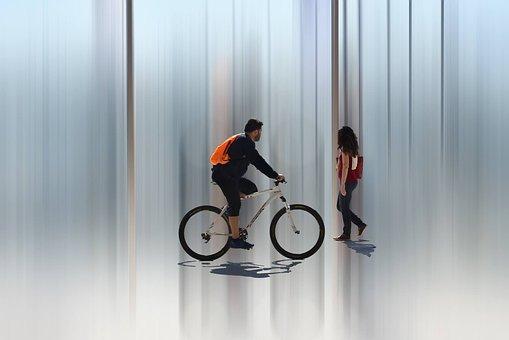 Adult, Wheel, Motion, Sport, Man, Art, Photoart