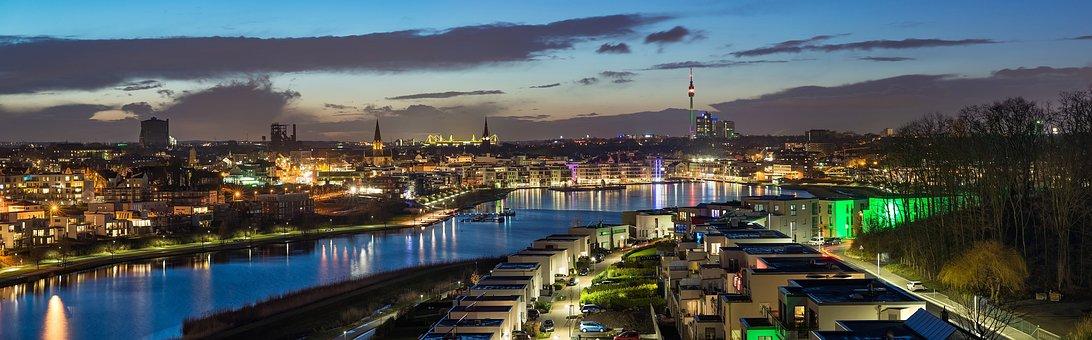 Panorama, Waters, Travel, Panoramic Image, City