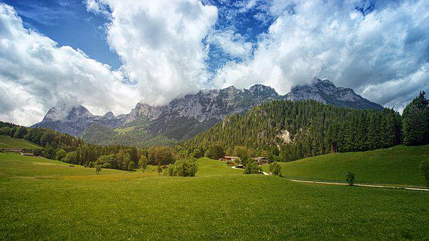 Nature, Panorama, Landscape, Mountain, Grass, Pasture