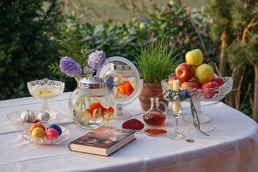 Novruz, Nowruz, Persian New Year's Table, Sofre Haft