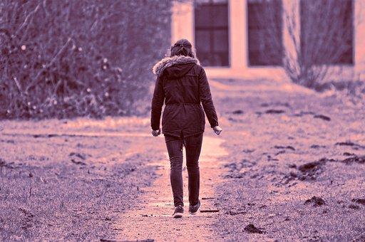 Woman, Person, People, Female, Walking, Motion
