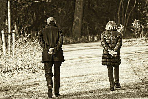 Man, Woman, Persons, People, Couple, Together, Walking