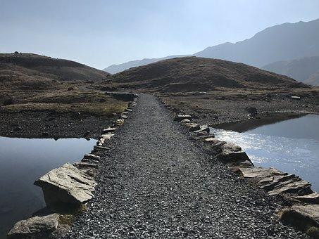 Water, Landscape, Seashore, Mountain, Snowdon, Wales