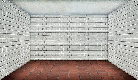 Space, Empty, Brick, White, Interior, Tiles