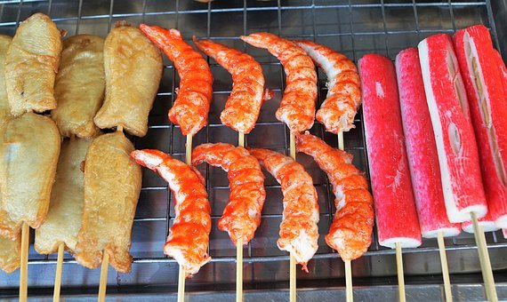 Food, Barbecue, Sausage, Meat, Delicious, Spit, Pork