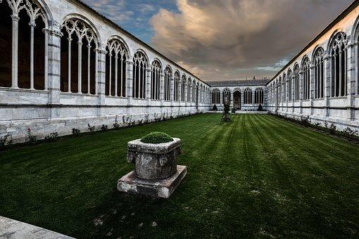 Architecture, Travel, Pisa, Italy, Church, Cemetery