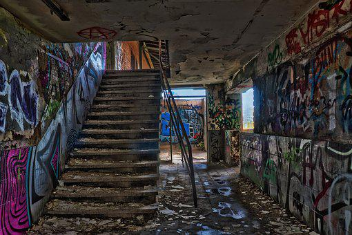 Abandoned, Architecture, Old, Ruin, Stairs, Staircase