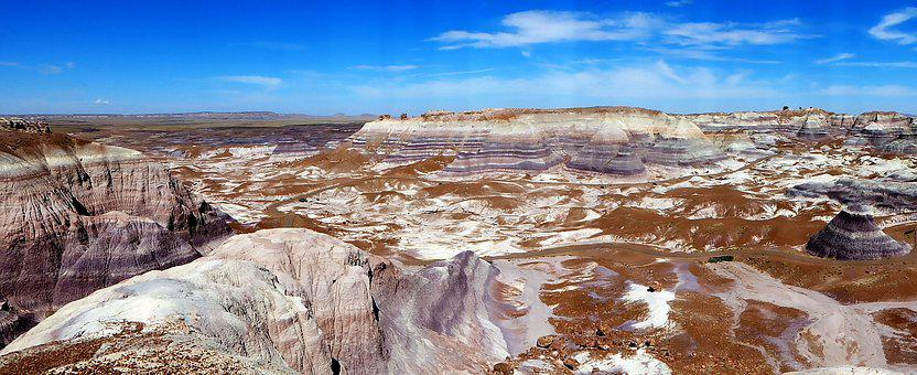 Usa, Arizona, Painted Desert, Panoramic, Landscape