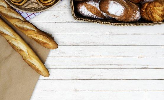 Food, Aerial View, Baguette, Baked, Bakery, Blank