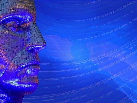 Mask, Art, Bright, Background, Creativity, Blue