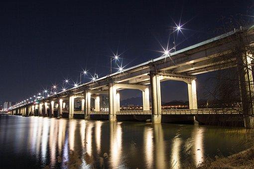 Diving School, Night View, Bridge, High Road