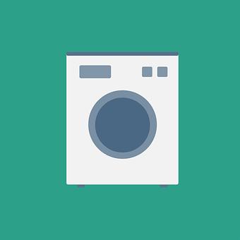 Washing Machine, Laundry, Flat Design, Flat, Dry