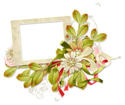 Frame, Photo Frame, Spring, Summer, Flowers, Greens