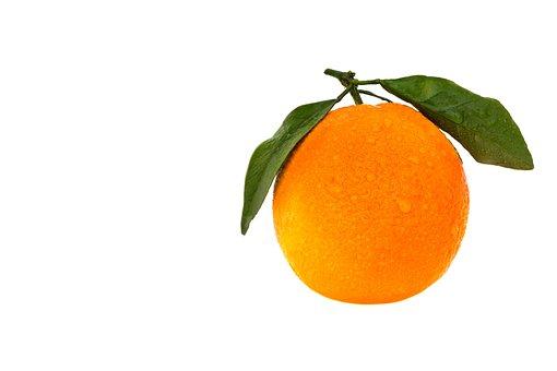 Orange, Fruit, Leaf, Disjunct, Juicy, Tropical, Food