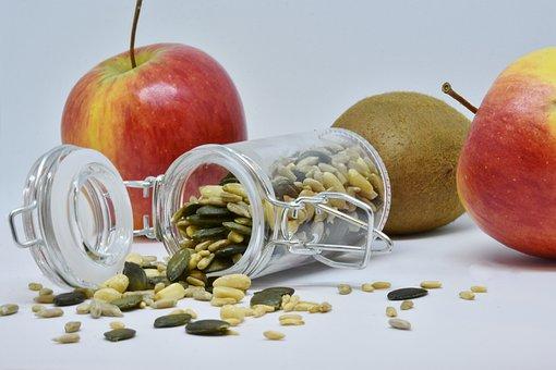 Apple, Sunflower Seeds, Pumpkin Seeds, Pine Nuts, Fruit