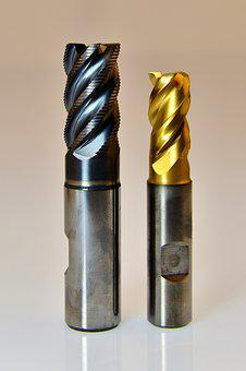 Milling Cutters, End Mill, Milling, Machining, Gold