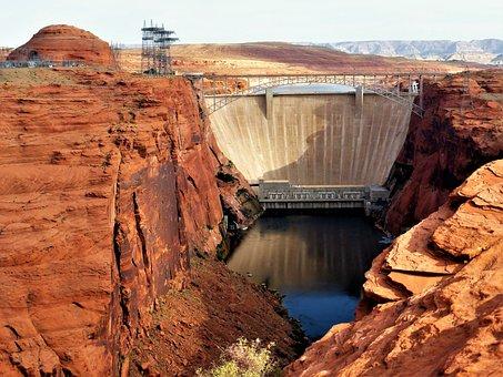Architecture, Dam, Usa, Canyon, Sandstone, Nature