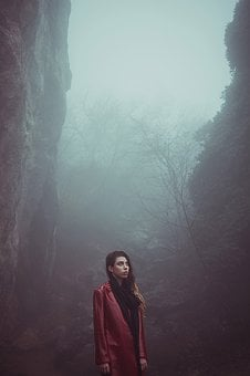 People, Woman, One, Outdoors, Fog, Girl, Stroll