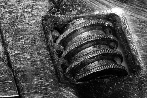Old, Closeup, Steel, Spanner, Metal, Industrial, Iron