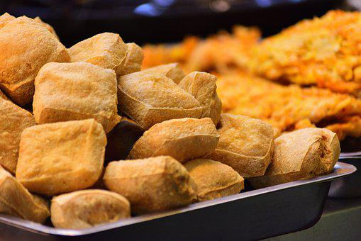 Meals, Delicious, Fried, Tofu