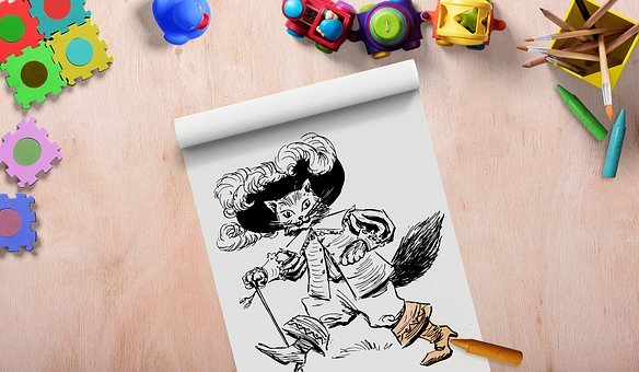 Toys, Frame, Background Image, Drawing Pad