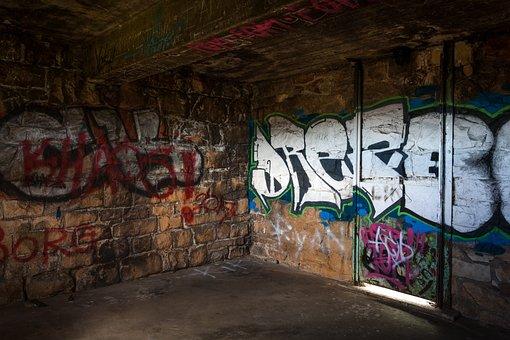 Lion's Den, Graffiti, Wall, Art, Painting, Old, Urban