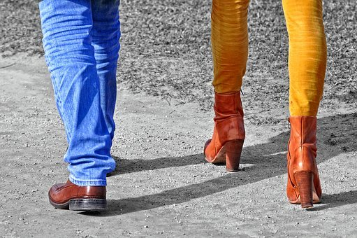 People, Persons, Man, Woman, Together, Walking, Leg