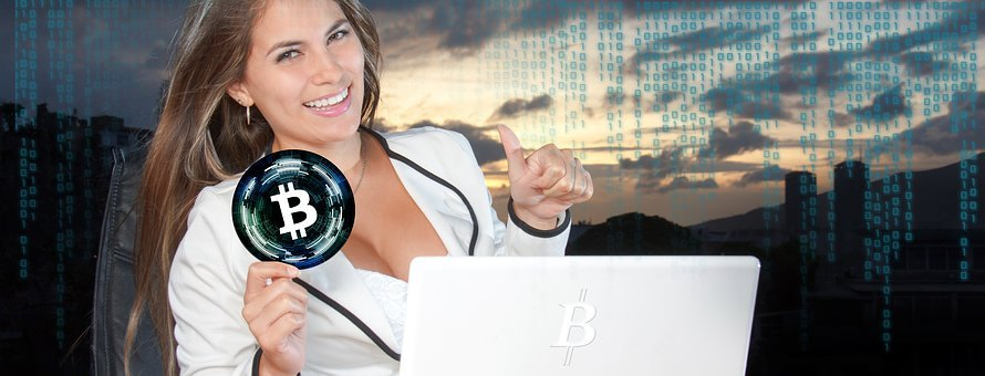 Bitcoin, Crypto-currency, Currency, Block Chain, Woman