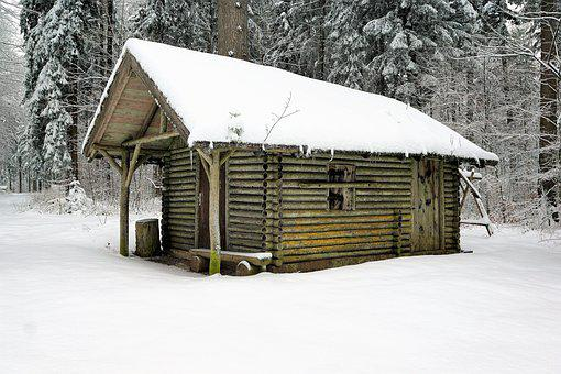 Winter, Snow, Wood, Home, Barrack, Bungalow, Cold, Hut