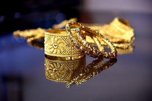 Indian, Gold, Jewelry, Bracelet, Bangle, Female
