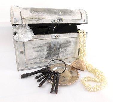 Treasure Chest, Key, Box, Container