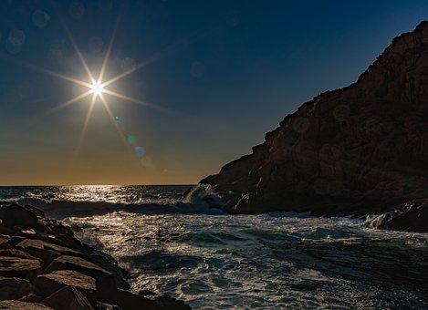 Waters, Nature, Sunset, Sea, Coast, Corsica, Sardinia