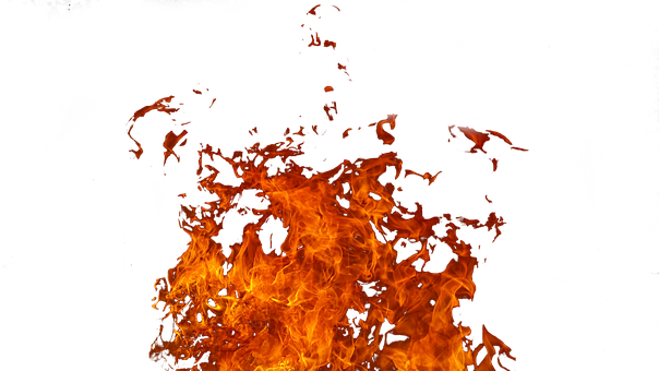 Fire, Flames, Hot, Fierce, Orange