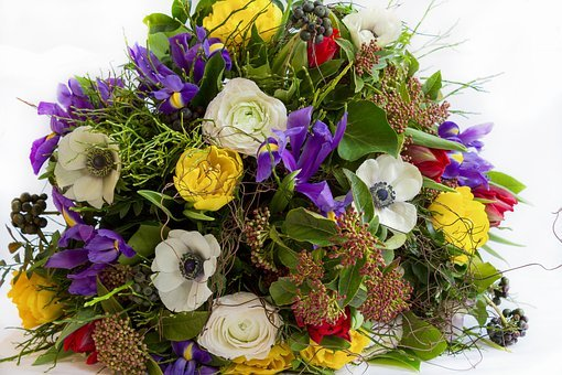 Flower, Bouquet, Easter, Colorful, Give, Spring Flowers