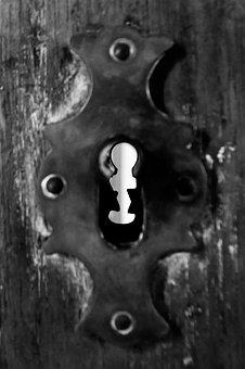 Old, Door, Texture, Iron, Lock, Key, Metal, Detail, Log