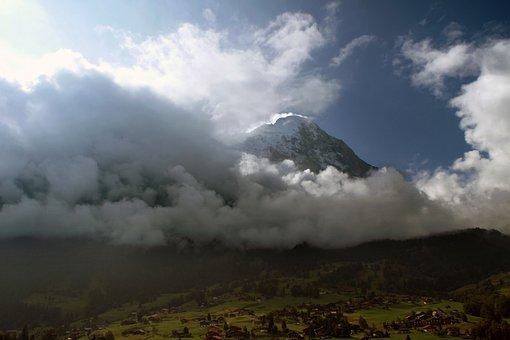 Panoramic, Mountain, Landscape, Nature, Sky