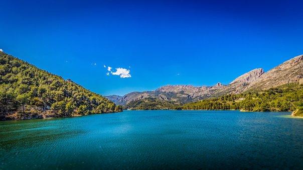 Retaining Lake, Spain, Water, Nature, Mountain