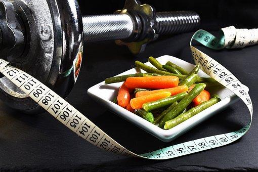 Fitness, Dumbbell, Vegetables, Exercise, Muscles, Sport