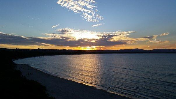 Nature, Water, Panoramic, Sunset, Dawn, Dusk, Sky, Sea