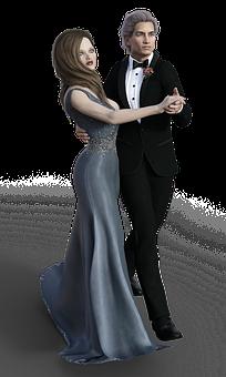 Woman, Man, Pair, Dance, Dancing Couple, Ball, Suit