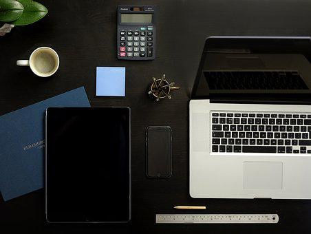 Tidy Desk, Macbook, Ipad, Iphone, Tablet, Mobile