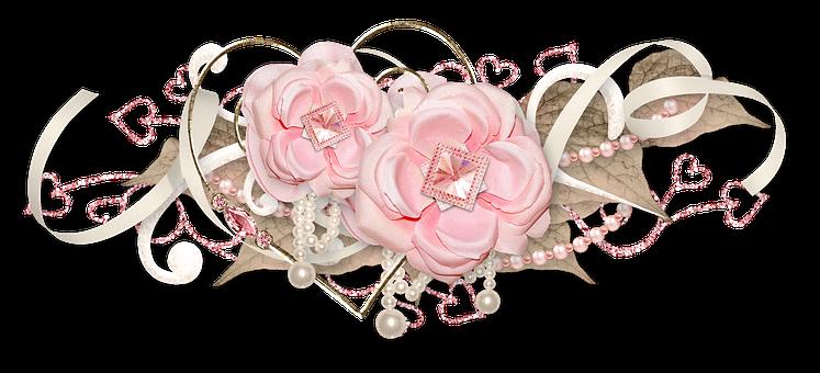 Rose, Pink, Cluster, Decor, Ornament, Tape, Tenderness