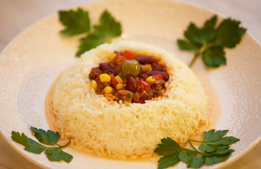 Tjena Kitchen, Chili Con Carne, Rice, Red Bean, Food