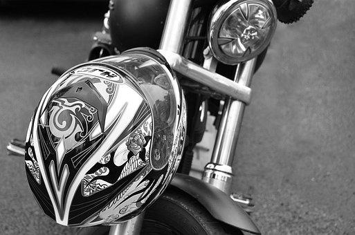 Helmet, Motorcycle, Metal, Vehicle