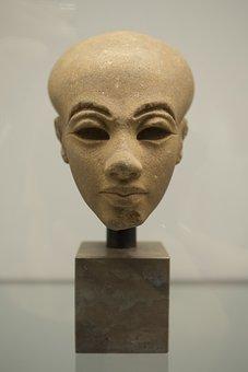 Sculpture, Art, Statue, Face, Woman, Egypt, Stone