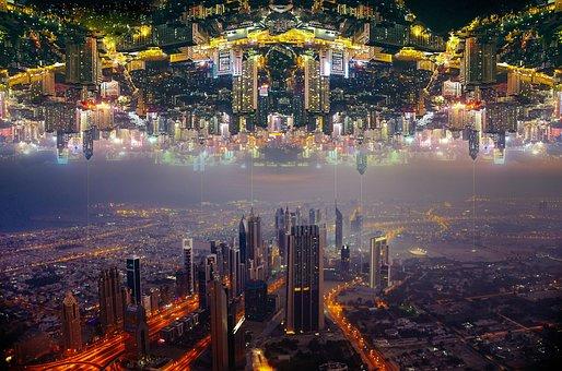 Parallel, City, Street, Center, Building, Buildings